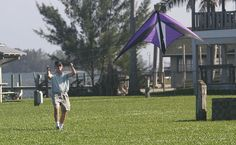 Gene Siwek flies his stunt kite at Riverview Park in Sebastian