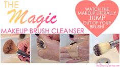 Seriously disgusting! See how much makeup is buried deep in your makeup brushes, and the coolest way to remove it