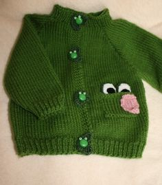 f3c6d5fd52a3a Frog Sweater by BabyBeatrini on Etsy