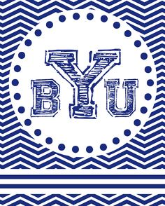 Family Ever After....: {Free BYU Printable} Chevron BYU