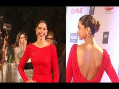 Deepika Padukone BACKLESS at the red carpet of 61st Britannia Filmfare Awards 2016.