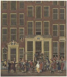 Isaac Ouwater | De boekhandel en het loterijkantoor van Jan de Groot in de Kalverstraat te Amsterdam, Isaac Ouwater, Anonymous, 1758 - 1843 |