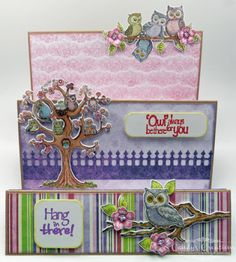 Hang In There Owl Step Card by Candy S. - Cards and Paper Crafts at Splitcoaststampers