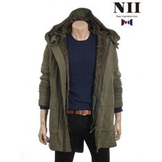 KPOP STYLEs:Kpop,Kdrama fashion webstore [Nii] Wirless Military style jacket NNUCLOC5011 Khaki KPOP STYLEs:Kpop,Kdrama fashion webstore