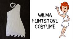 I'm making this on Saturday for our Halloween costume!  My roommate and I are going as Wilma and Betty! Great bc she's a red head and I'm a brunette!