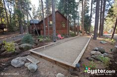 Bocce Court at Home   Full Screen   Large Bocce Court at the Evergreen Lodge at Yosemite