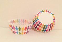 Rainbow Confetti Cupcake Liners by KokosShoppe on Etsy