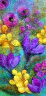 Cornelia Lauwaert copyright © 2013 - All rights reserved Pictures On String, Felt Pictures, Nuno Felting, Needle Felting, Felt Material, Wool Art, Thread Painting, Sewing Art, Handmade Felt