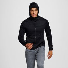 Men's Tech Fleece Hoodie Black 2XL - C9 Champion, Size: Xxl
