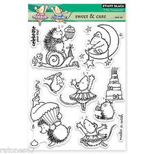 New Penny Black SWEET AND & CUTE Clear Stamps Birthday Cake Critters Stars Happy