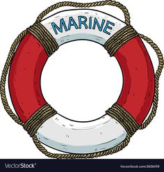 Marine theme lifebuoy vector image on VectorStock Nautical Photo Booth, Nautical Theme, Et Wallpaper, Spongebob Birthday Party, Paper Quilling Flowers, Beach Quilt, Illustration Noel, Lifebuoy, Shark Party