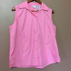 Pink summer button up Xl pink button up great condition White Stag Tops Button Down Shirts