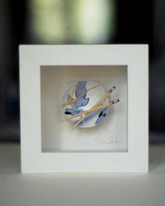 Kintsugi Eggshells Bowl and Chopsticks- 2 Framed Art, Japanese Art, Japanese, Visual, Pottery, Kintsugi, Art