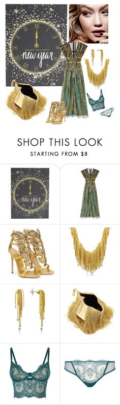 """Olivia: New Year's Gala"" by foreevers ❤ liked on Polyvore featuring Tom Ford, Gucci, Giuseppe Zanotti, Orlando Orlandini, Hillier Bartley and Wacoal"