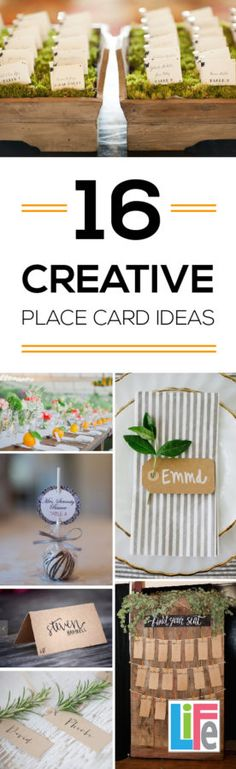 Organize your next party with these BEAUTIFUL creative place cards. I'm using…
