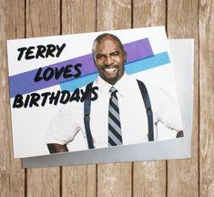 Cool Birthday Cards, Birthday Cards For Friends, Diy Birthday, Birthday Ideas, Birthday Gifts, Happy Birthday, Brooklyn 9 9, Brooklyn Nine Nine, Terry Crews