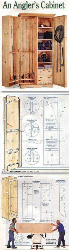 Fishing Rod Cabinet Plans - Furniture Plans and Projects   WoodArchivist.com