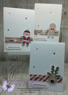 Quick & Easy Cookie Cutter Christmas Cards  #cookiecutterchristmas  #candycanelanedsp  #stampinup  #stampinupdemonstrator  #stampcreationswithmunchkin  #christmas2016