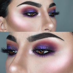 Purple perfection eye makeup pretty cali girl макияж глаз, м Makeup Goals, Makeup Inspo, Makeup Inspiration, Beauty Makeup, Hair Makeup, Flawless Makeup, Makeup Style, Makeup Geek, Hair Beauty
