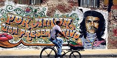 Graffiti on rundown buildings in Buenos Aires is a stark reminder of Argentina's tragic history. Photo / Thinkstock