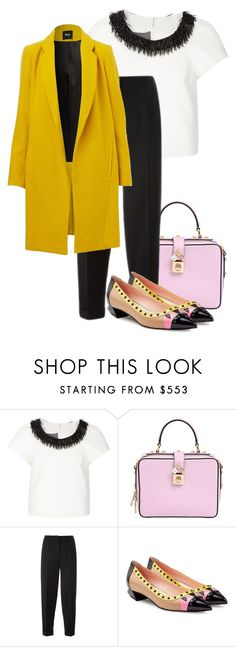 """""""Work look ✨"""" by ghadoo ❤ liked on Polyvore featuring Monique Lhuillier, Dolce&Gabbana, Alexander McQueen and Fendi"""