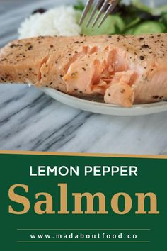 There are tons of reasons why I try to eat salmon at least once a week for lunch, but the top reason has to be because it tastes so good! Lately I like it a bit softer and have found this lemon pepper salmon recipe to be perfect. I especially love lemon pepper salmon on a big salad for lunch. When I share my salmon in a lunchbox on instagram I inevitably get the question, do you eat it cold?! The answer is yes, I do.tender, flakey and flavorful filet of Whole30 salmon in less than 20… Easy Meal Prep Lunches, Healthy Meal Prep, Healthy Foods, Healthy Eating, Healthy Recipes, Salmon Recipes, Seafood Recipes, Lemon Pepper Salmon, Protein Lunch