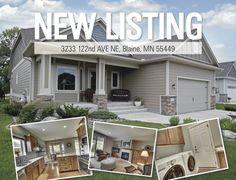 3233 122nd Ave. NE, #Blaine, #MN. #NewListing #RealEstate www.BlaineHomeSource.com