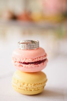 rings + macarons, photo by Chelsey Boatwright Photography