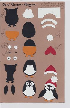 Owl Punch - Penguin Punch Art Template Stampin' Up!
