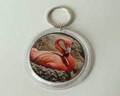 Pink Flamingo Photo Key Chain by InspiringFotos on Etsy