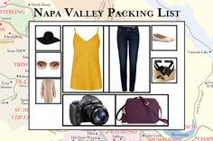 Napa Valley Packing List - What to Pack and Wear