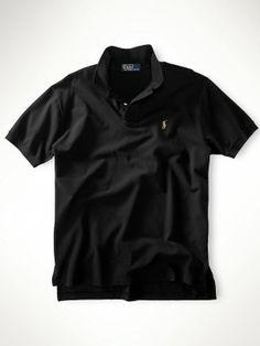 Polo Ralph Lauren Men's Classic Fit Mercerized Polo Black #Polo #RalphLauren