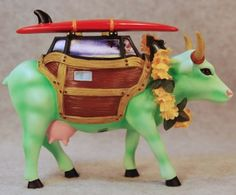 Retired Cows On Parade | Details about COWS ON PARADE COW-A-BUNGA SURFER DUDE WOODY w/SURFBOARD ...