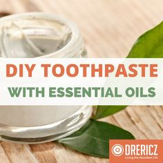 Our family likes this bentonite clay essential oil homemade toothpaste recipe for a clean, healthy mouth! It's simple to make your DIY natural toothpaste...