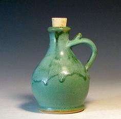 Oil bottle from Hughes Pottery