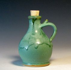 Oil bottle from Hughes Pottery