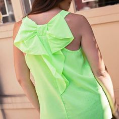 Neon Polka dot bow back tank from Sta-Glam for $29.99 on Square Market