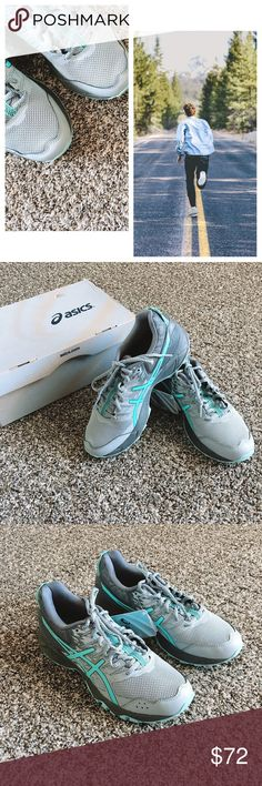 NWT Asics Shoes Running Grey and Blue NWT Asics Shoes Running  *NEW & BOX  *Size 8 *  *measurements & weight approximate    🍀LOVE offers 🍀MAKE offers 🍀LET'S negotiate Asics Shoes Sneakers