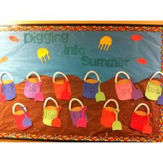 Digging Into Summer Bulletin Board Idea