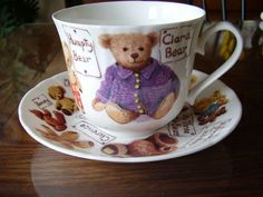 ROY KIRKHAM MY FAVORITE TEDDIES LARGE CUP AND SAUCER SET MADE IN ENGLAND