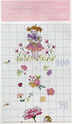 Gráficos Ponto Cruz. Sweet growth chart for a sweet girl.