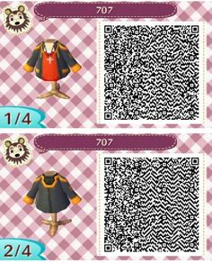 Animal Crossing New Leaf - Mystic Messenger 707 / Luciel / Saeyoung hoodie - QR code for ACNL part 1 and 2