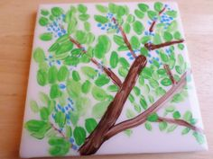 Decorative 4X4 Ceramic Tiles Cool Hand Painted Tree Art Ceramic Tile  Coaster Or Wall Backsplash Design Inspiration