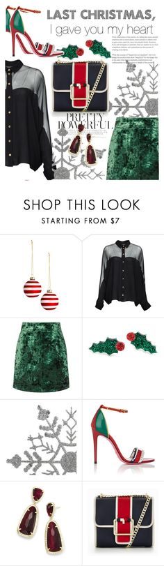 """Last Christmas"" by missbeatniks ❤ liked on Polyvore featuring Gucci, Sandro, Kendra Scott and Tommy Hilfiger"