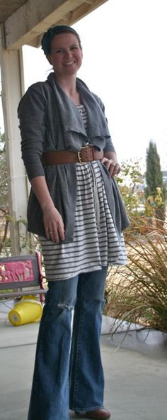 Fairly Fabulous Blog  I like the dress over jeans look