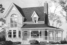House Plan 302-196......love this one. Wrap around porch and all