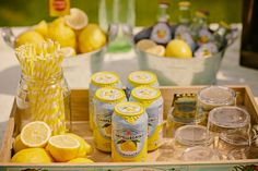 Barra de limonada para la boda