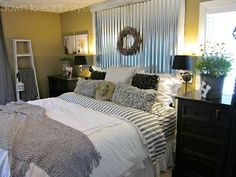 Like the corrugated metal headboard by alyce
