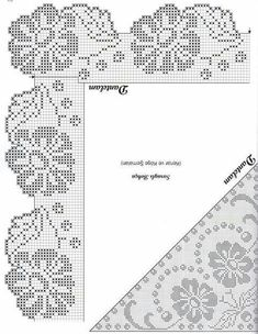 Thread crochet magazines to re Crochet Edging Patterns, Vintage Crochet Patterns, Granny Square Crochet Pattern, Crochet Borders, Crochet Diagram, Doily Patterns, Crochet Chart, Crochet Motif, Crochet Designs