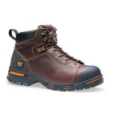 "Timberland PRO Men/'s Boondock 6/"" Soft Toe Work Boots Brown Leather TB092673214"